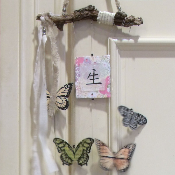 butterfly blessing hanging