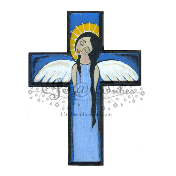 blue cross angel