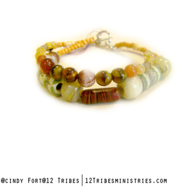 Called - african bead bracelet