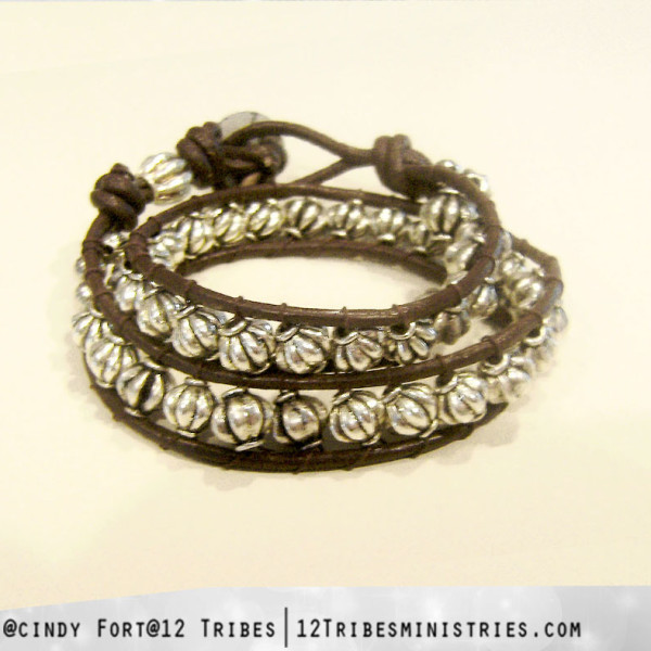 """Redeemed"" wrap bracelet"
