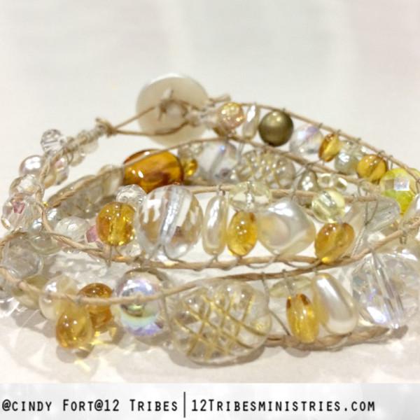 """""""Wisdom"""" double wrap bracelet"""