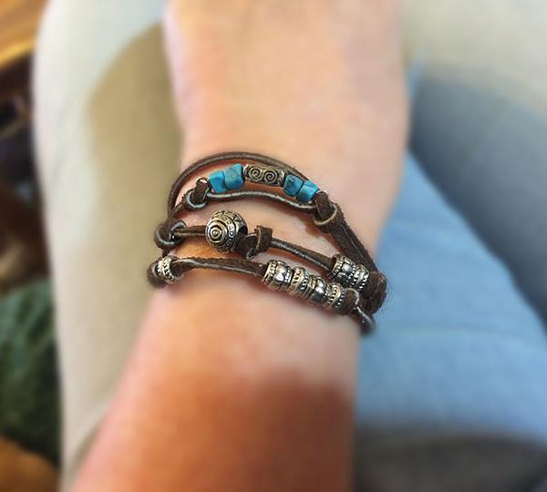 wrap bracelet on wrist