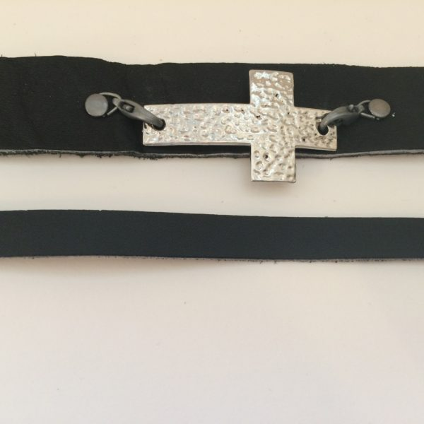 """Simplicity of the Cross"" Cuff Bracelet"